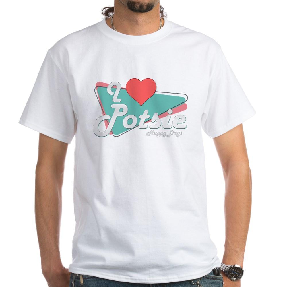 I Heart Potsie White T-Shirt