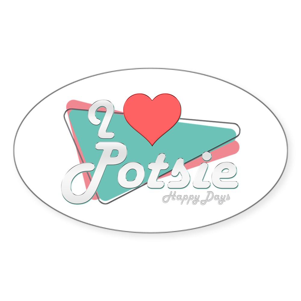 I Heart Potsie Oval Sticker