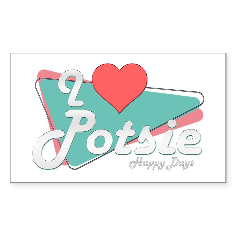 I Heart Potsie Rectangle Sticker