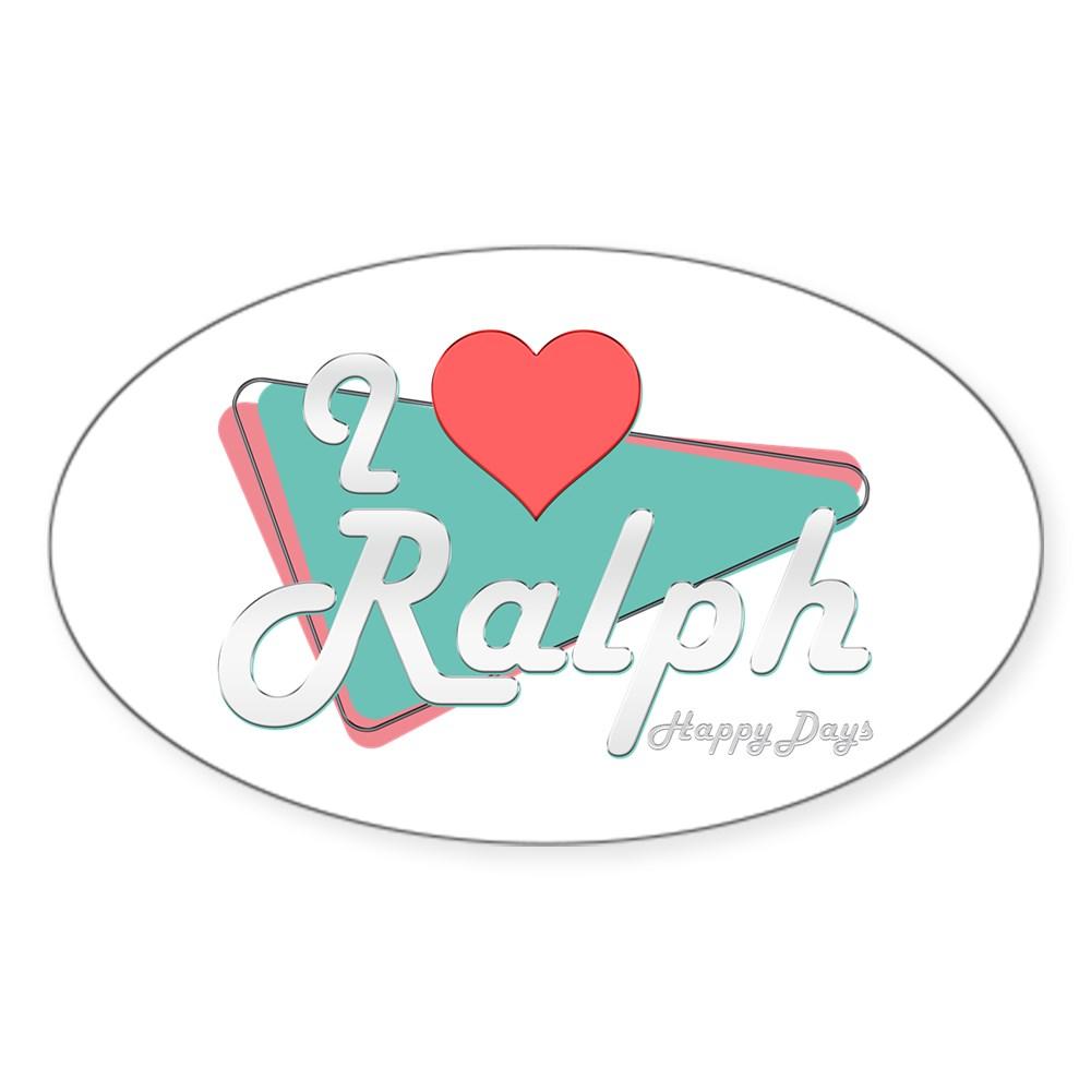 I Heart Ralph Oval Sticker