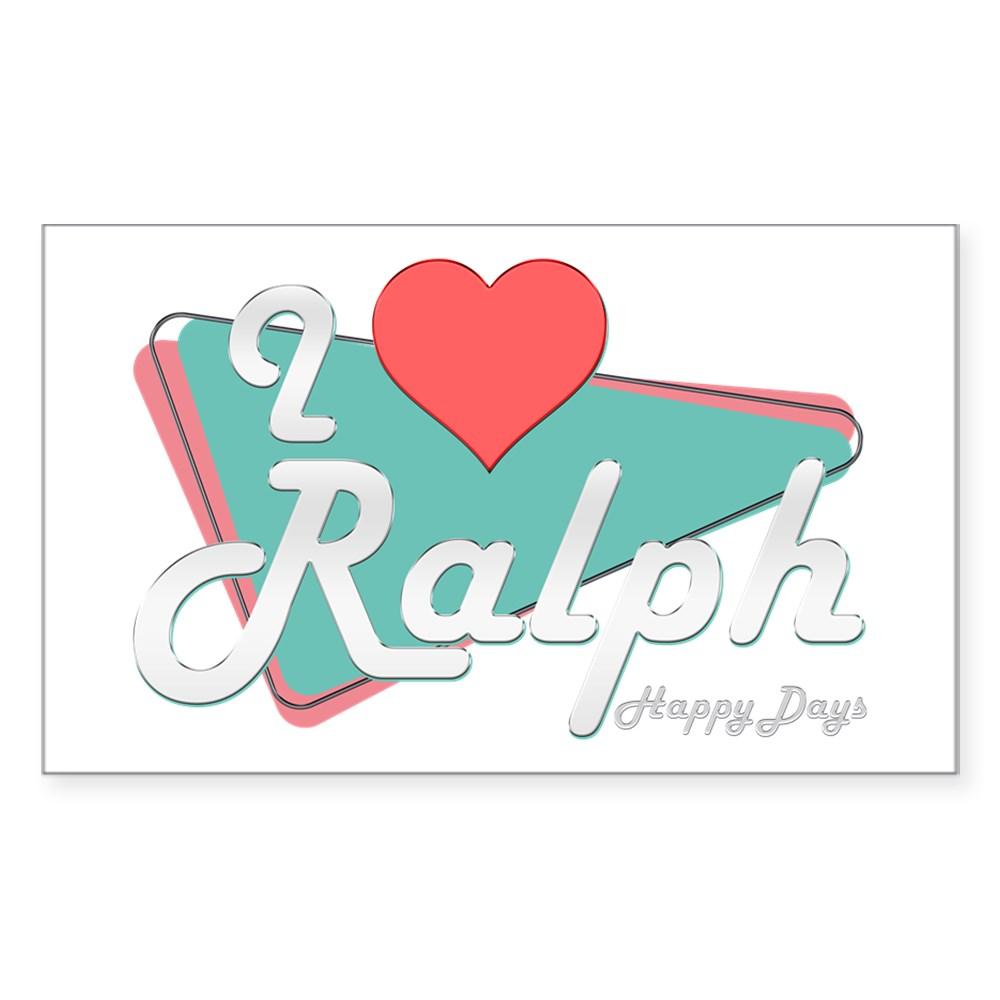 I Heart Ralph Rectangle Sticker