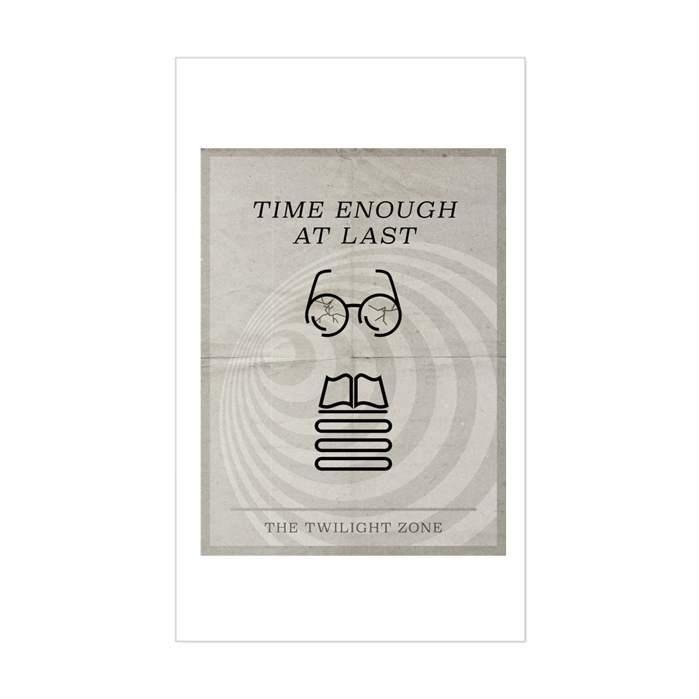 Time Enough at Last Minimal Poster Rectangle Sticker