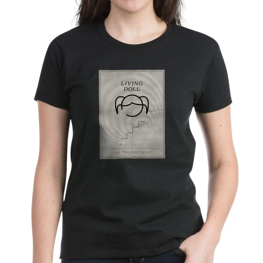 Living Doll Minimal Poster Women's Dark T-Shirt