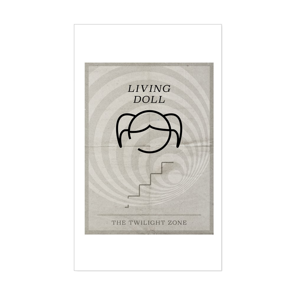 Living Doll Minimal Poster Rectangle Sticker