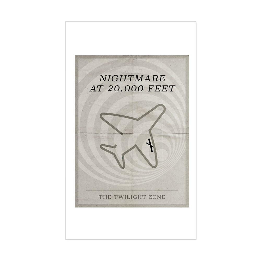 Nightmare at 20,000 Feet Minimal Poster Rectangle Sticker