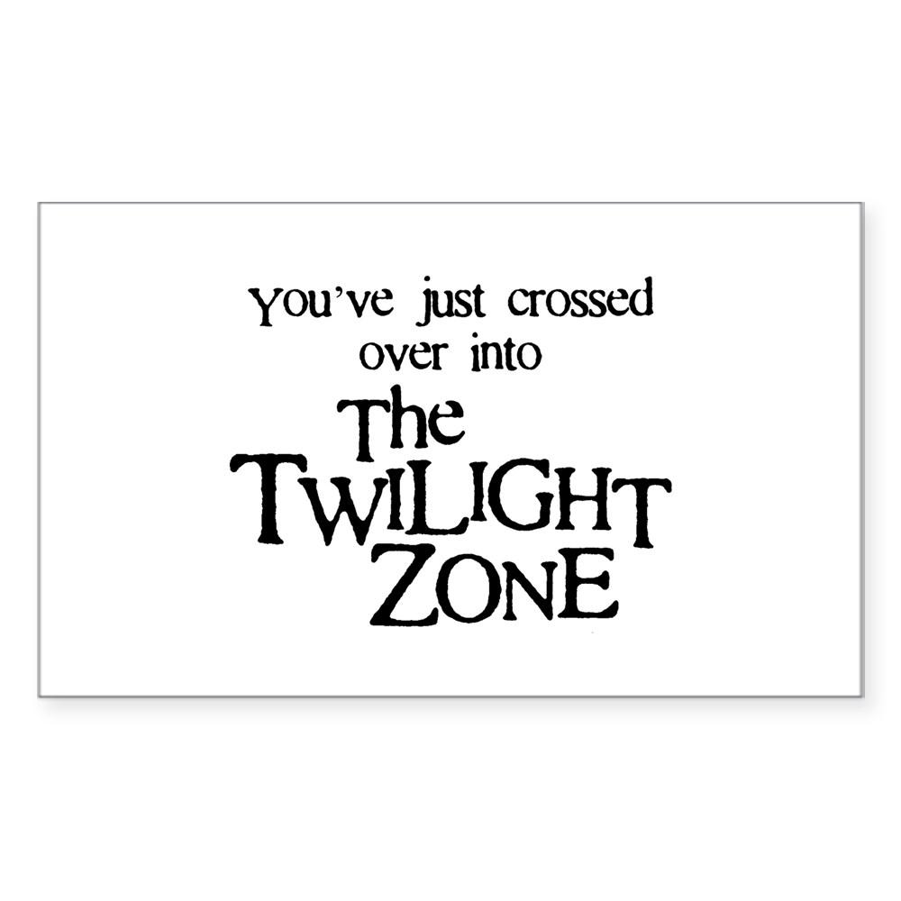 Into The Twilight Zone Rectangle Sticker