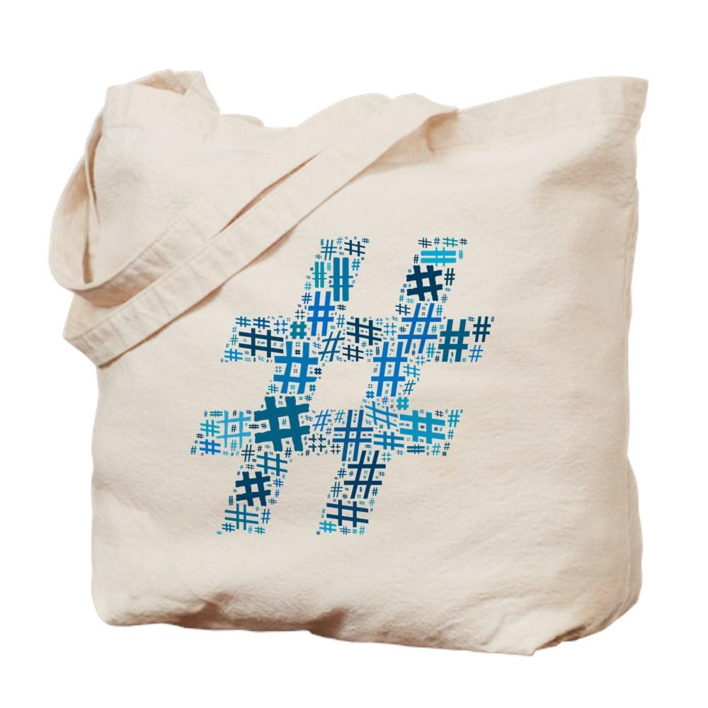 Blue Hashtag Cloud Tote Bag