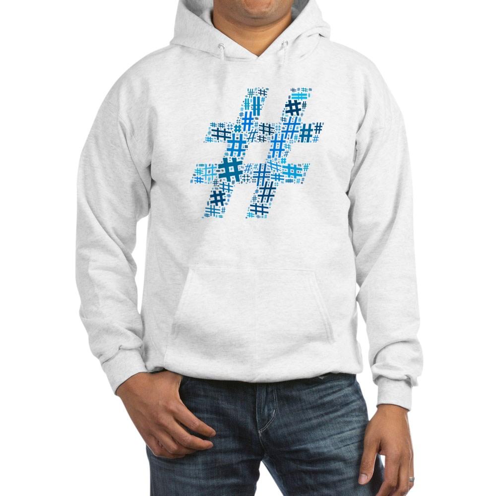 Blue Hashtag Cloud Hooded Sweatshirt