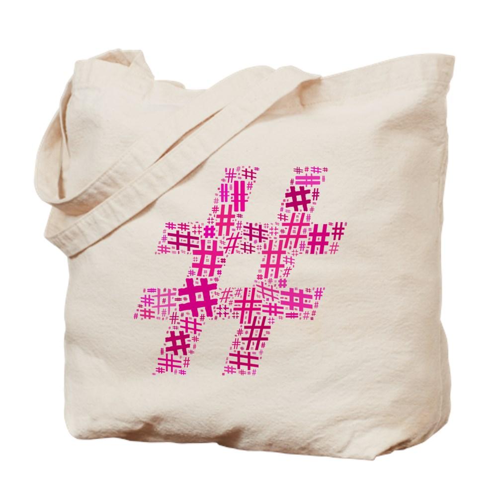 Pink Hashtag Cloud Tote Bag