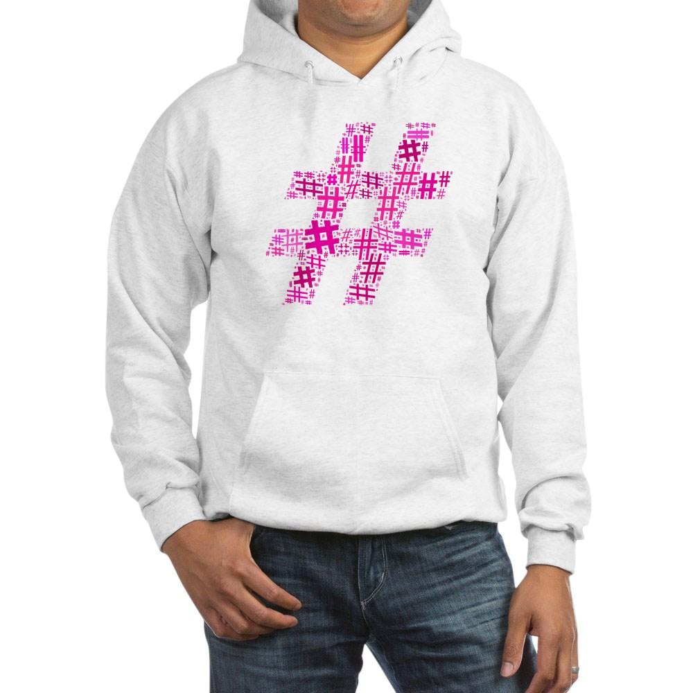 Pink Hashtag Cloud Hooded Sweatshirt