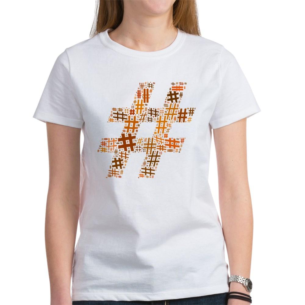 Orange Hashtag Cloud Women's T-Shirt