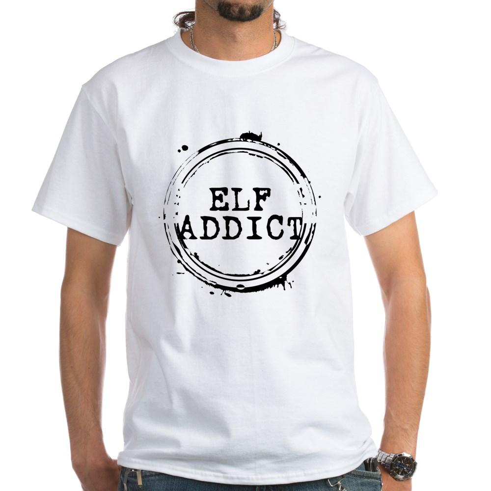 Elf Addict Stamp White T-Shirt