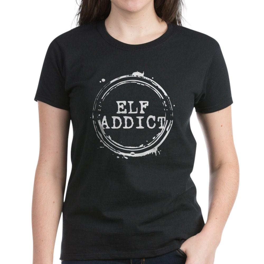 Elf Addict Stamp Women's Dark T-Shirt
