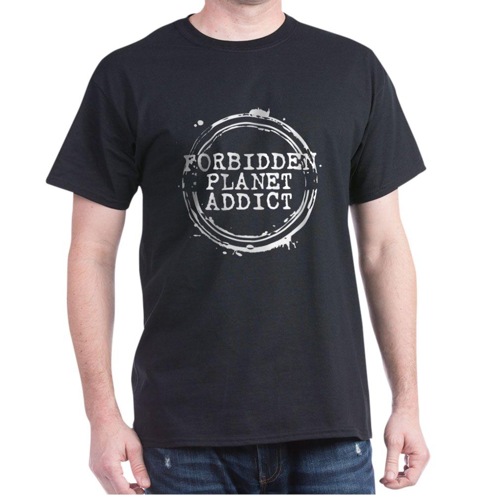 Forbidden Planet Addict Stamp Dark T-Shirt