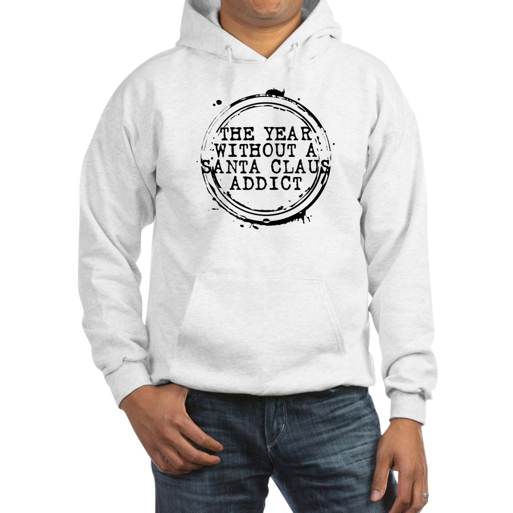 The Year Without a Santa Claus Addict Stamp Hooded Sweatshirt