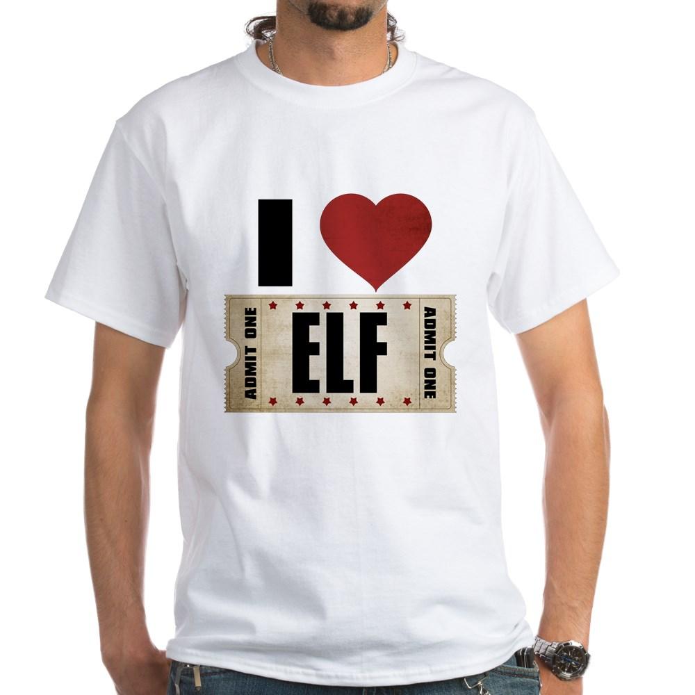 I Heart Elf Ticket White T-Shirt
