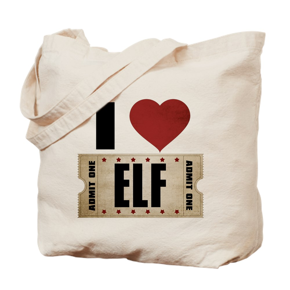 I Heart Elf Ticket Tote Bag