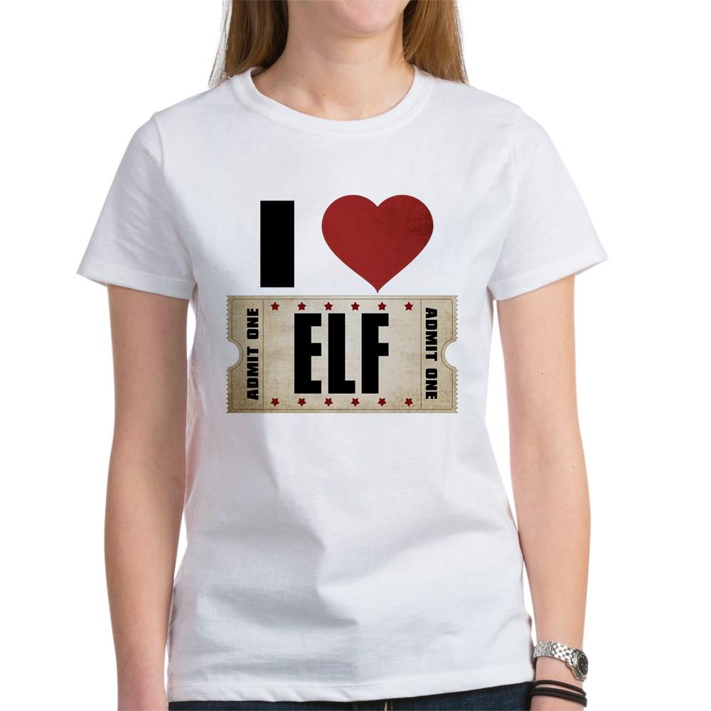 I Heart Elf Ticket Women's T-Shirt