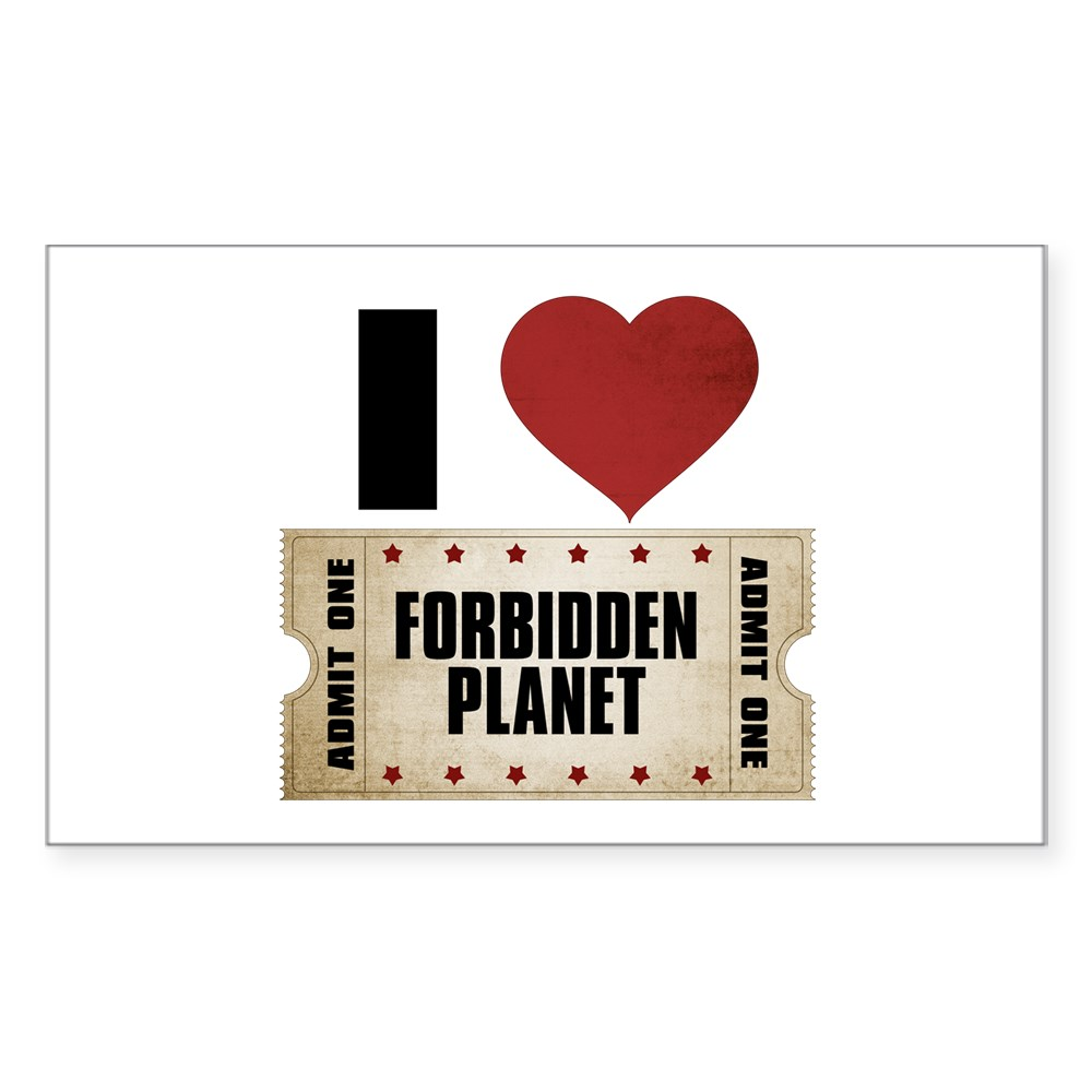 I Heart Forbidden Planet Ticket Rectangle Sticker