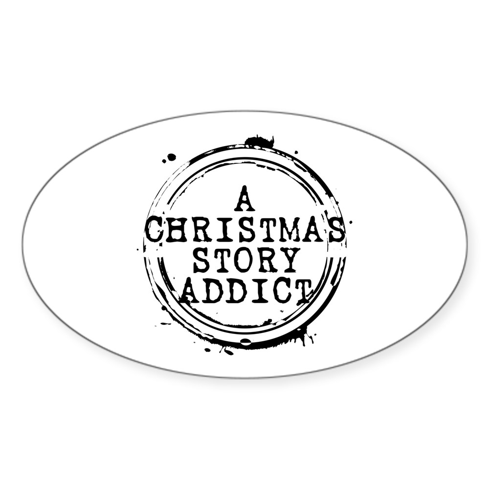 A Christmas Story Addict Stamp Oval Sticker