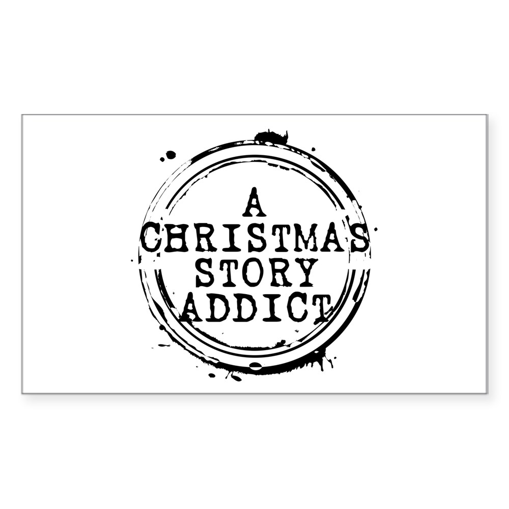 A Christmas Story Addict Stamp Rectangle Sticker