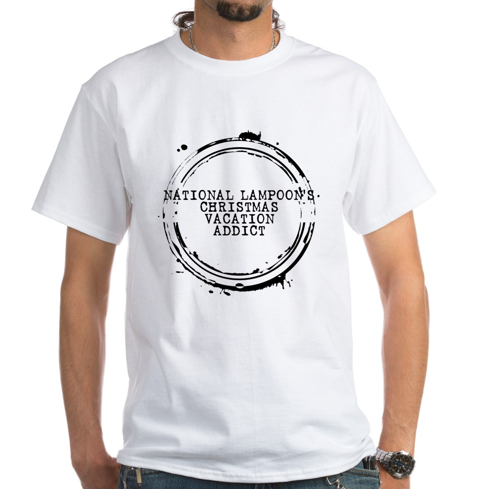 National Lampoon's Christmas Vacation Addict Stamp White T-Shirt