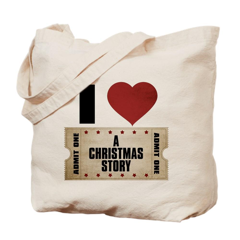 I Heart A Christmas Story Ticket Tote Bag