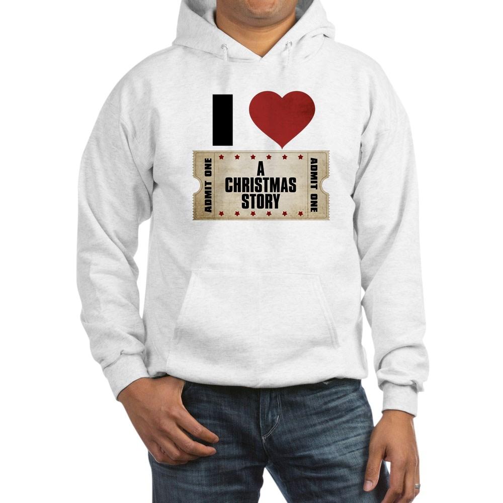 I Heart A Christmas Story Ticket Hooded Sweatshirt