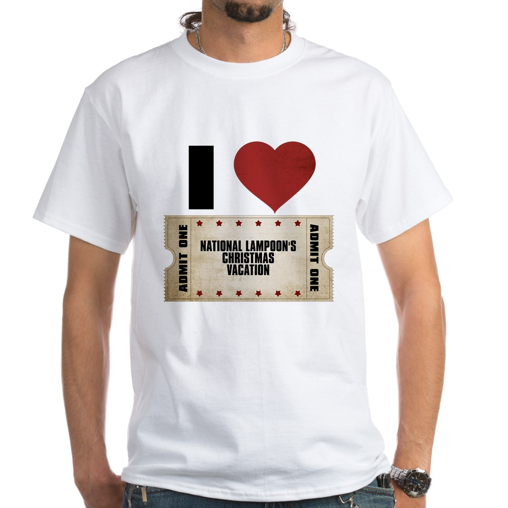 I Heart National Lampoon's Christmas Vacation Ticket White T-Shirt