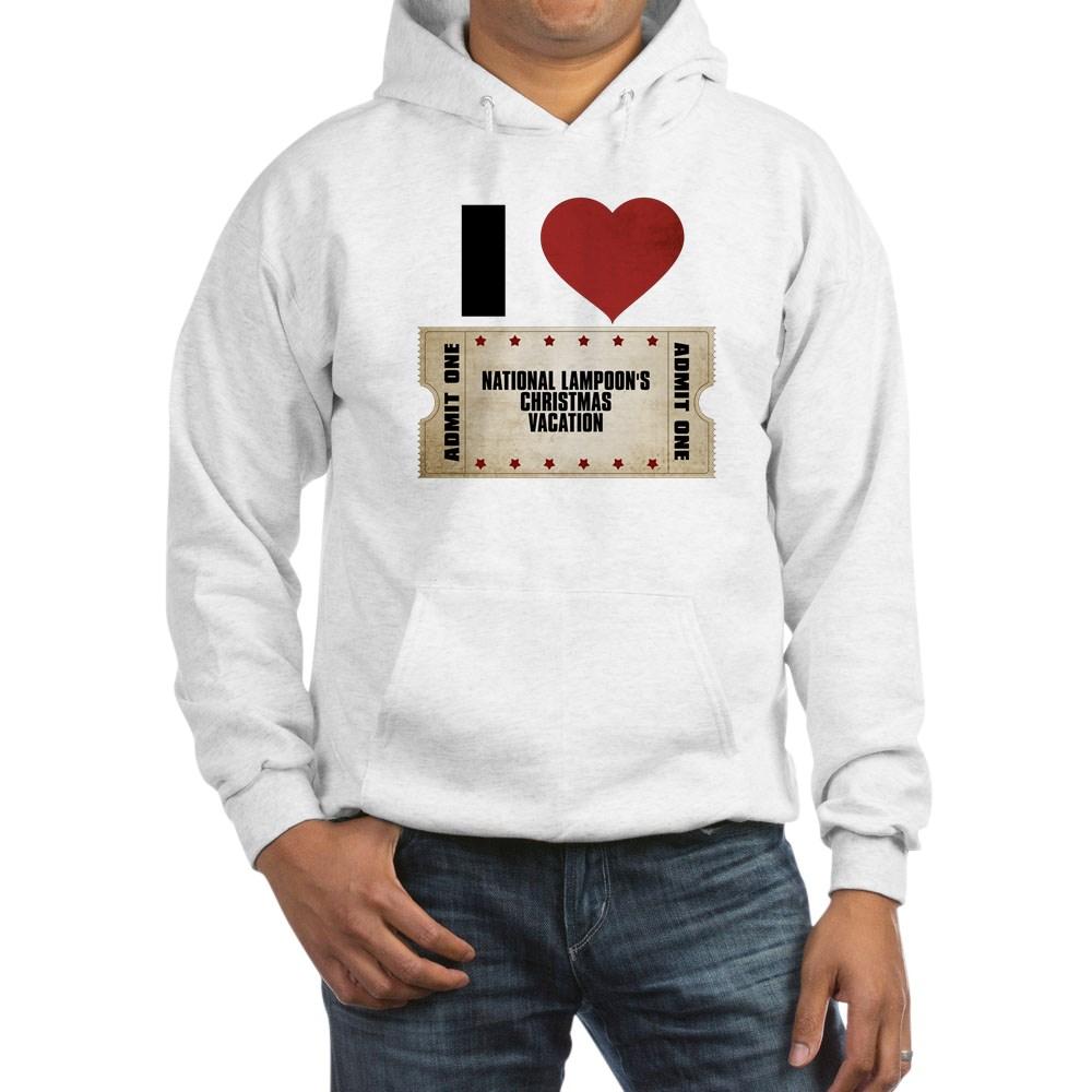 I Heart National Lampoon's Christmas Vacation Ticket Hooded Sweatshirt