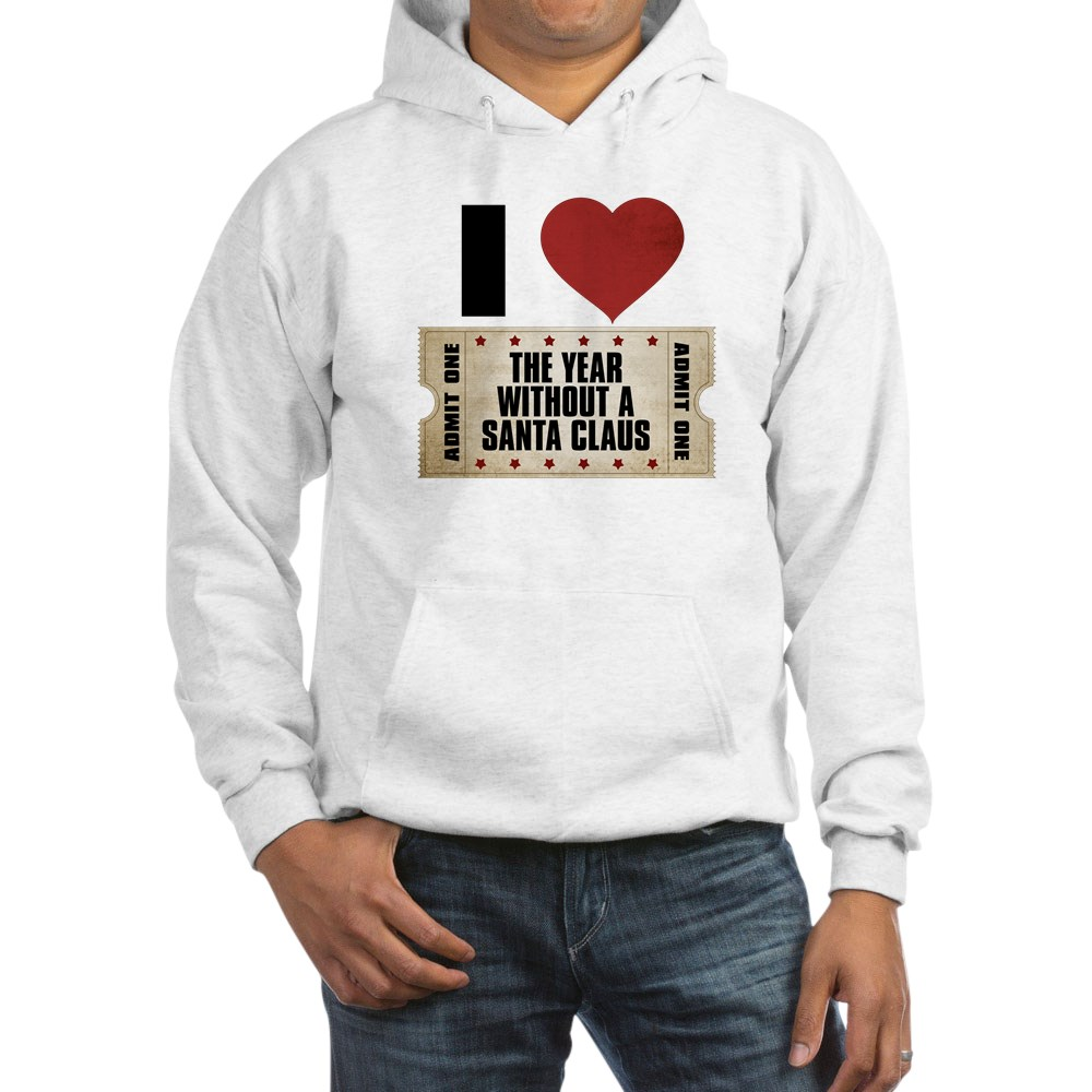 I Heart The Year Without a Santa Claus Ticket Hooded Sweatshirt