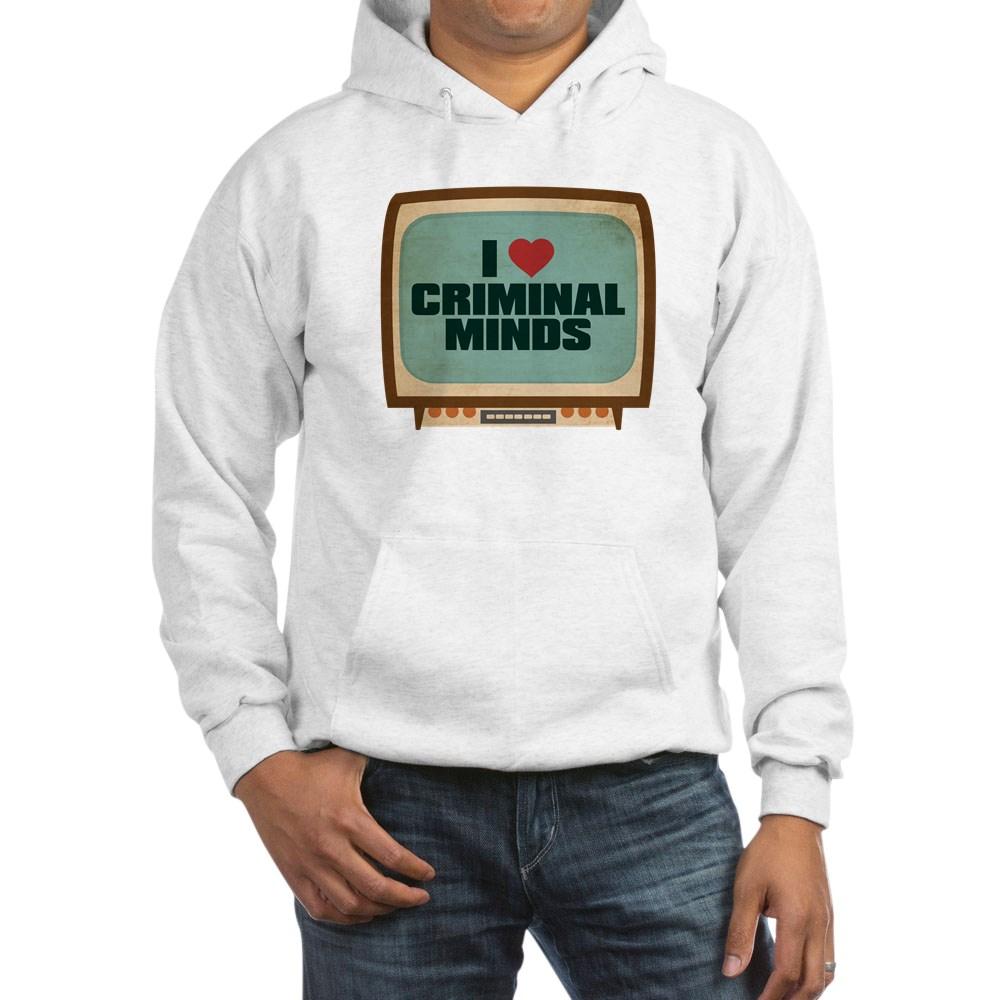 Retro I Heart Criminal Minds Hooded Sweatshirt