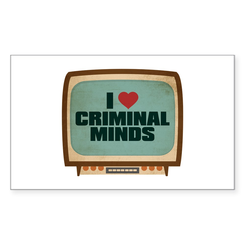 Retro I Heart Criminal Minds Rectangle Sticker