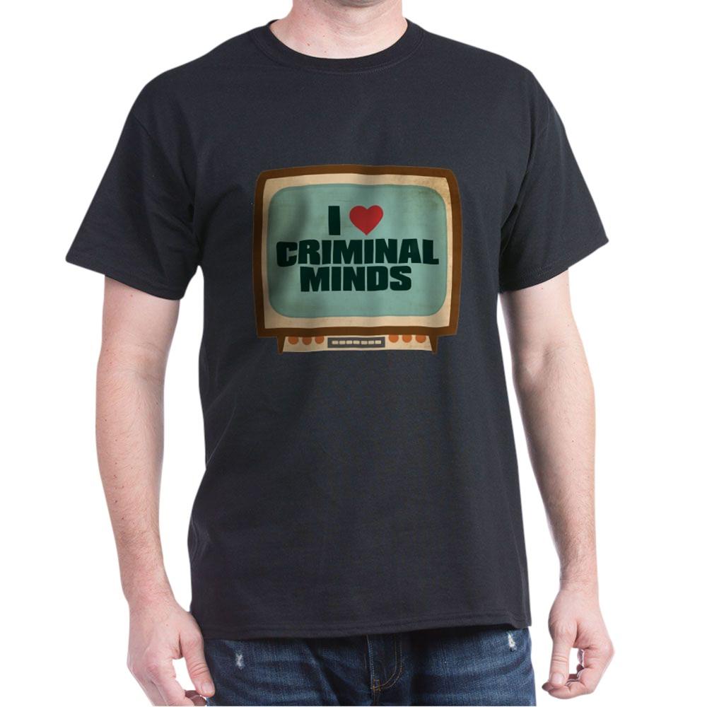 Retro I Heart Criminal Minds Dark T-Shirt