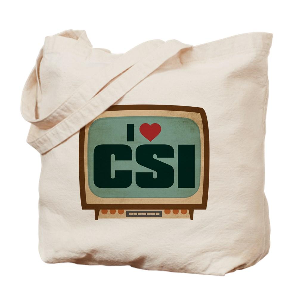 Retro I Heart CSI Tote Bag