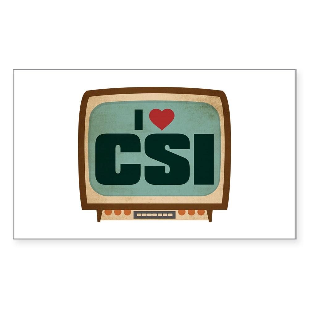 Retro I Heart CSI Rectangle Sticker