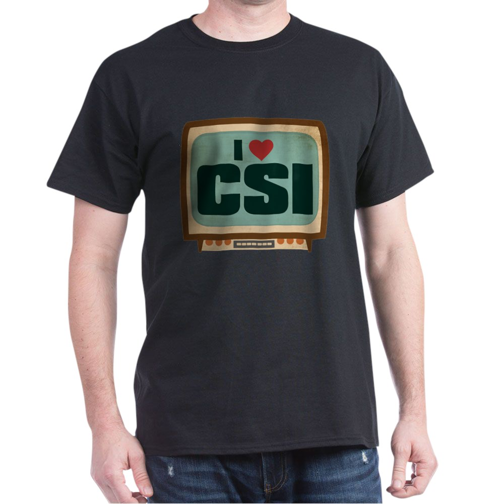 Retro I Heart CSI Dark T-Shirt