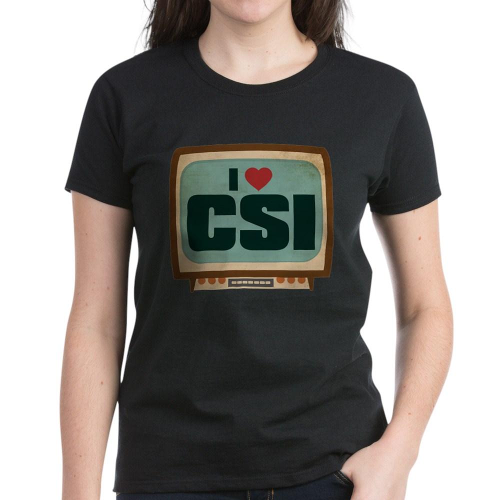 Retro I Heart CSI Women's Dark T-Shirt