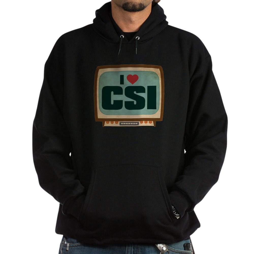 Retro I Heart CSI Dark Hoodie