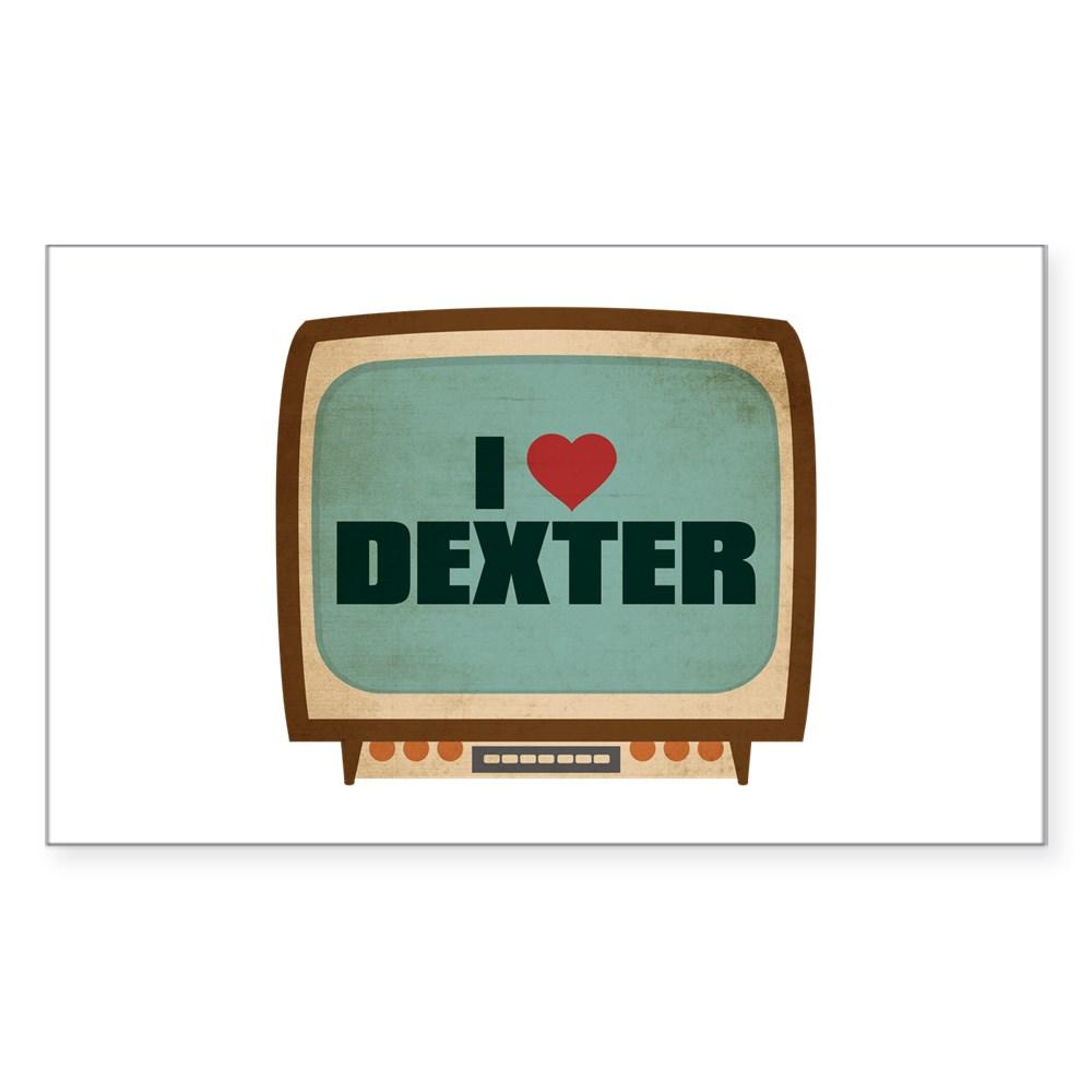 Retro I Heart Dexter Rectangle Sticker