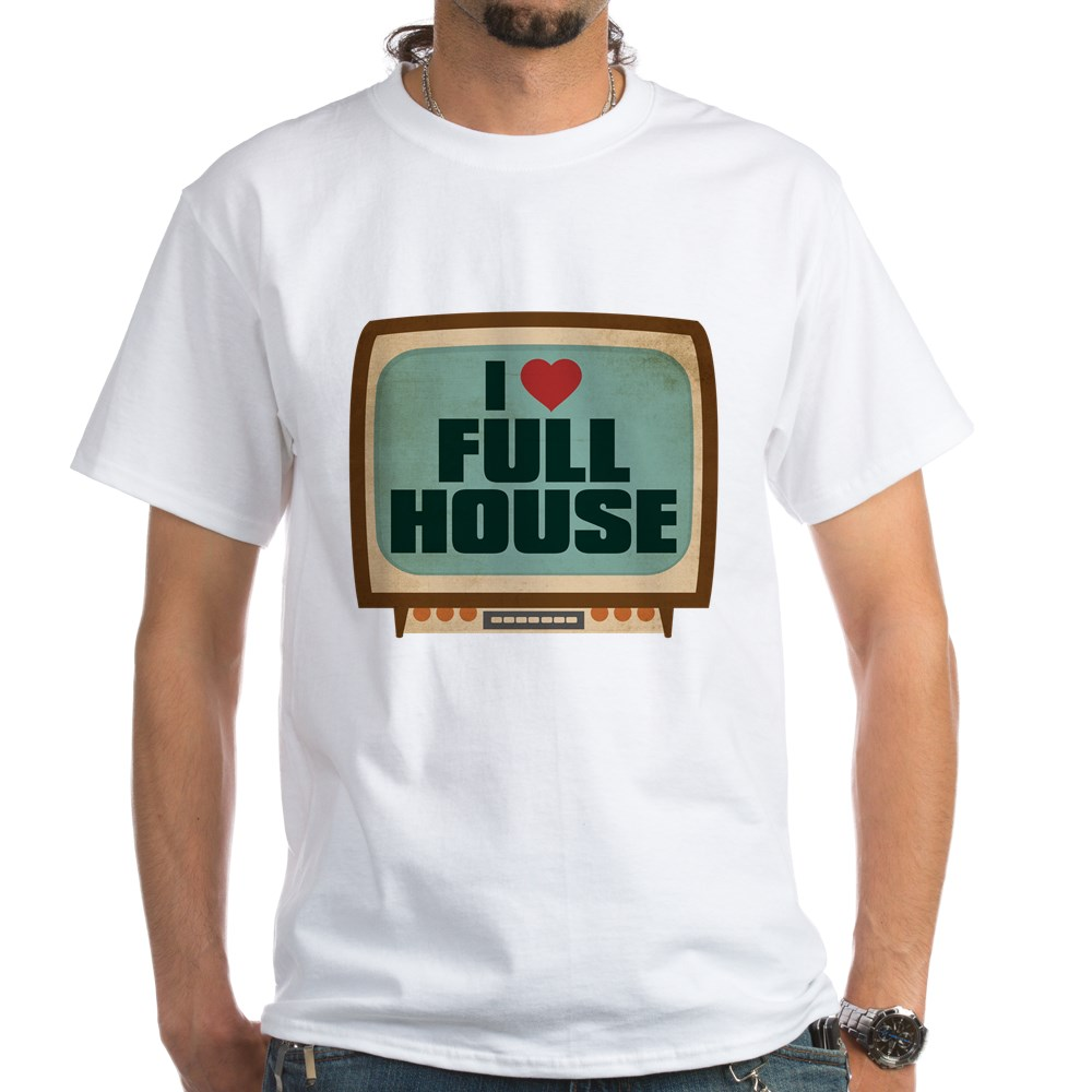 Retro I Heart Full House White T-Shirt