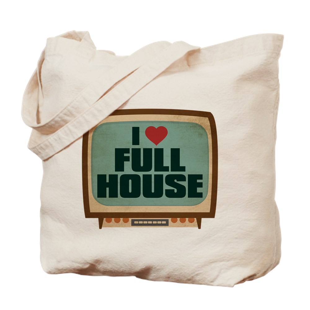 Retro I Heart Full House Tote Bag