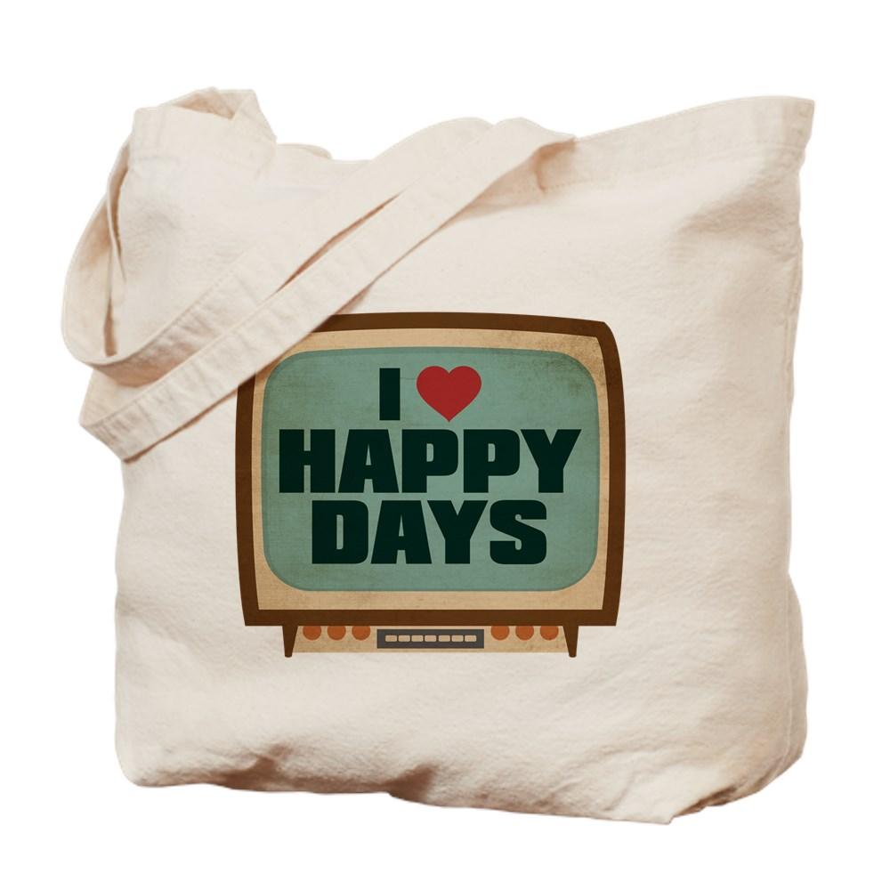 Retro I Heart Happy Days Tote Bag