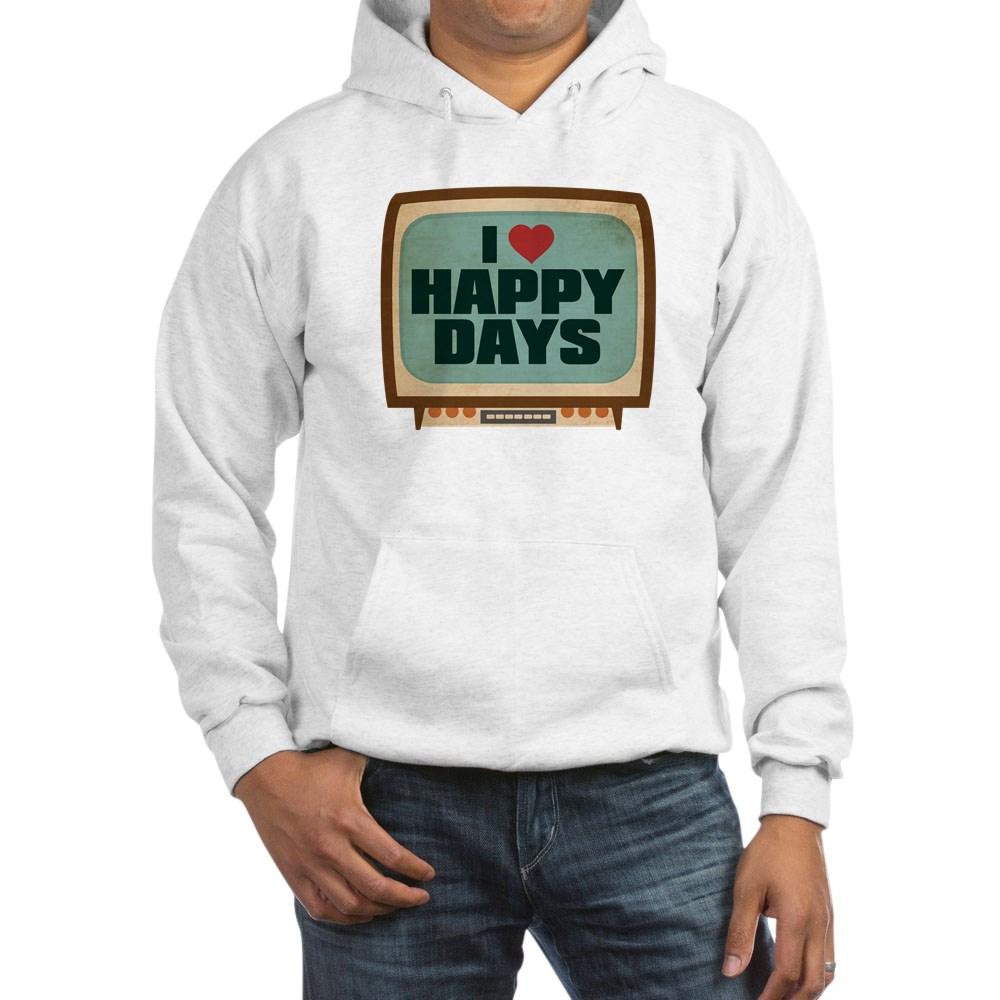 Retro I Heart Happy Days Hooded Sweatshirt