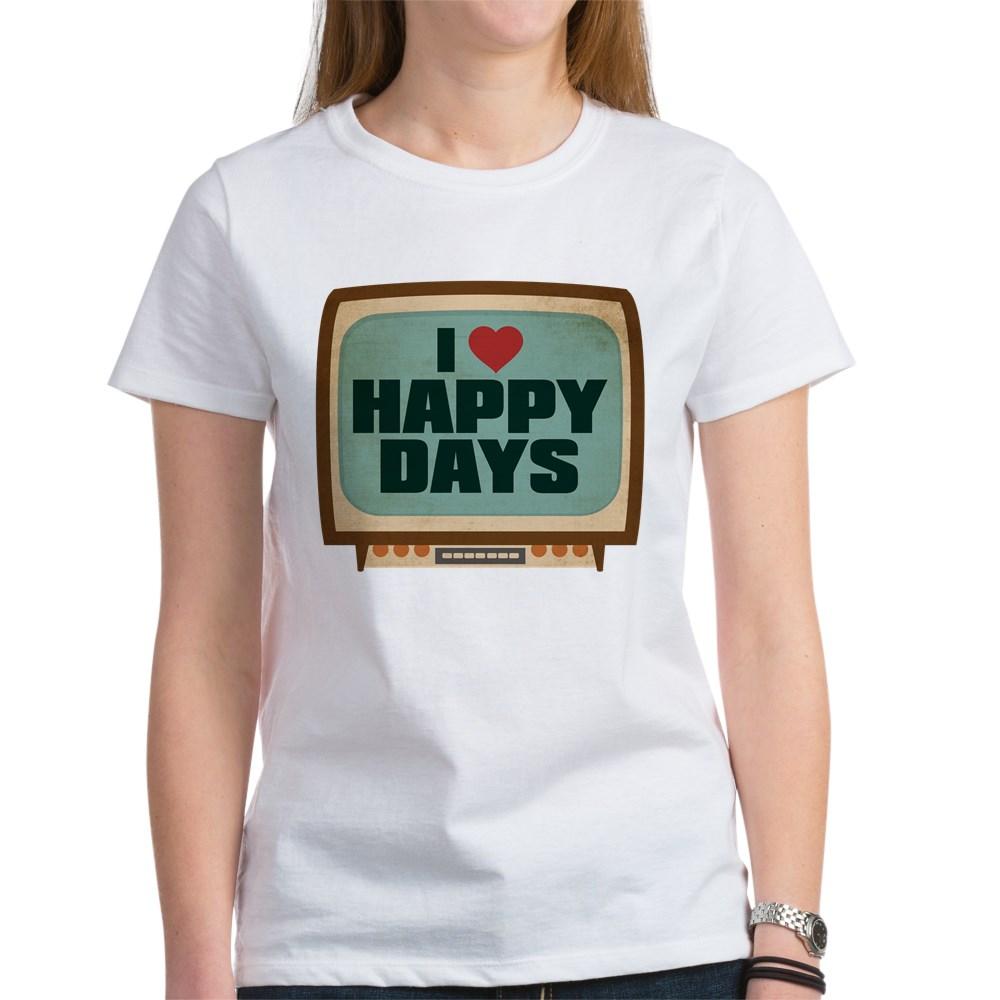 Retro I Heart Happy Days Women's T-Shirt