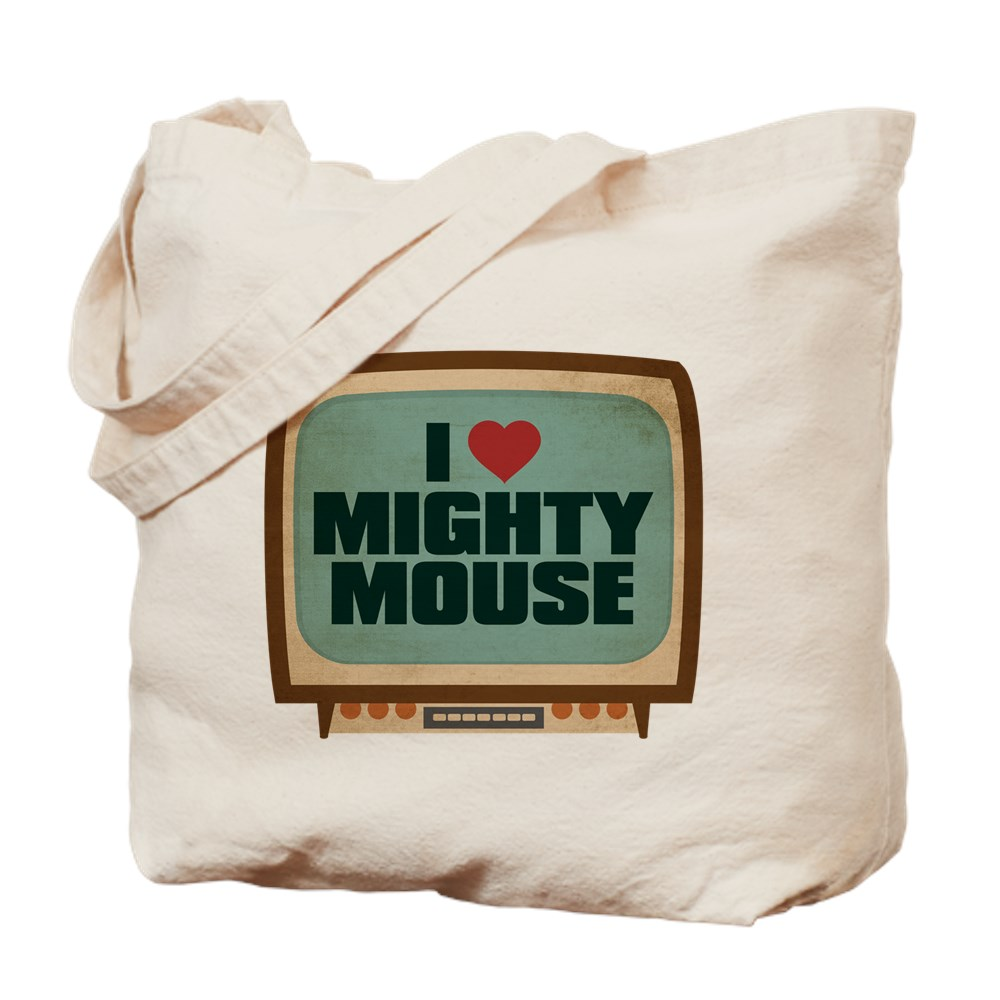 Retro I Heart Mighty Mouse Tote Bag