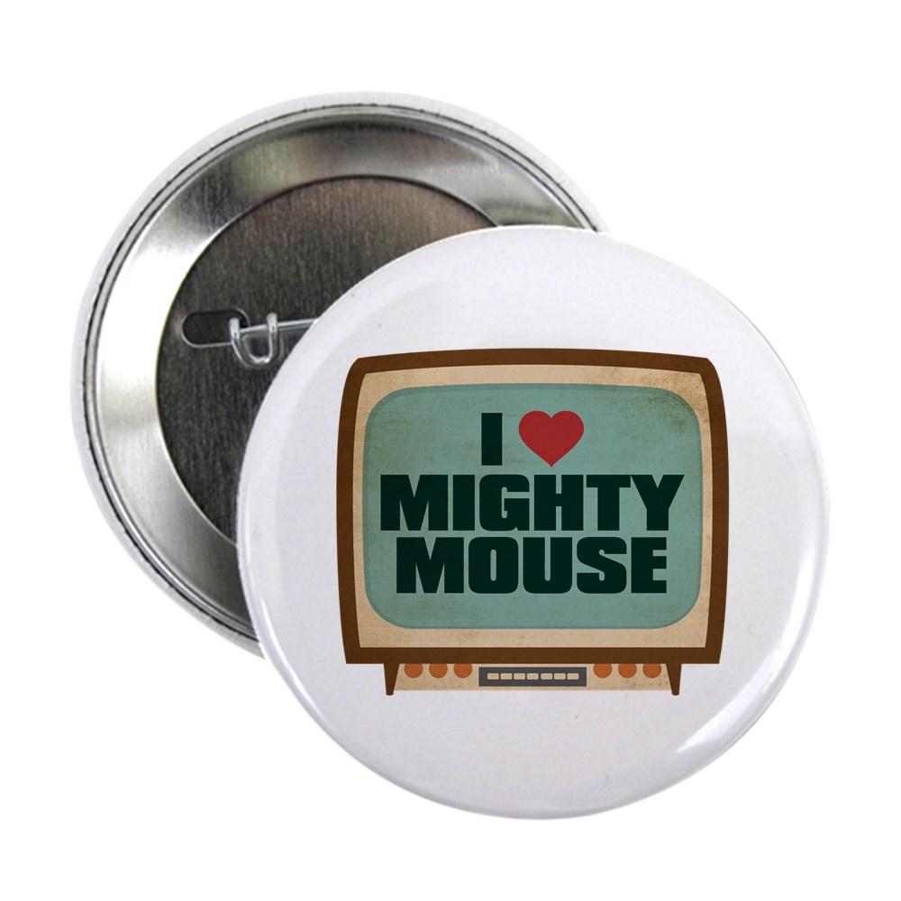 Retro I Heart Mighty Mouse 2.25