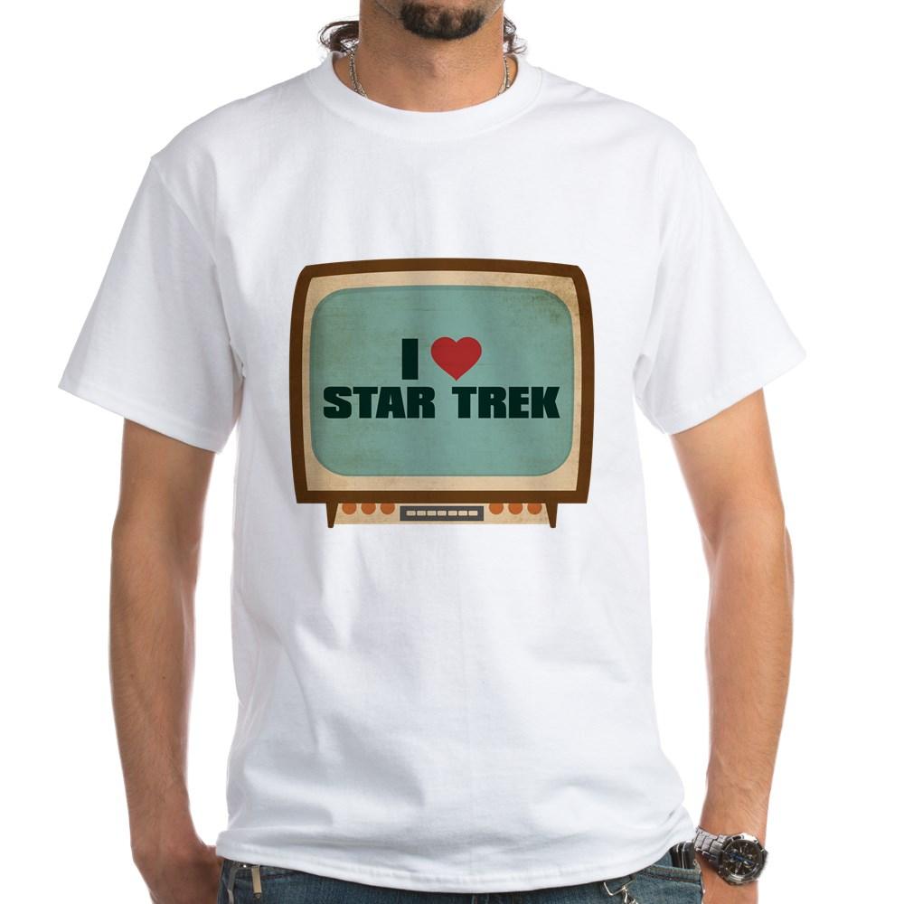 Retro I Heart Star Trek White T-Shirt