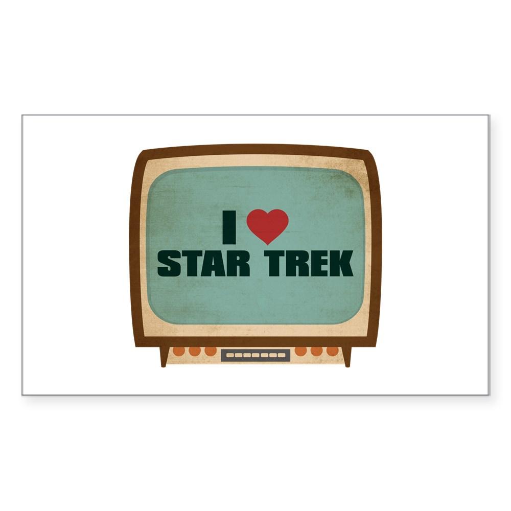 Retro I Heart Star Trek Rectangle Sticker