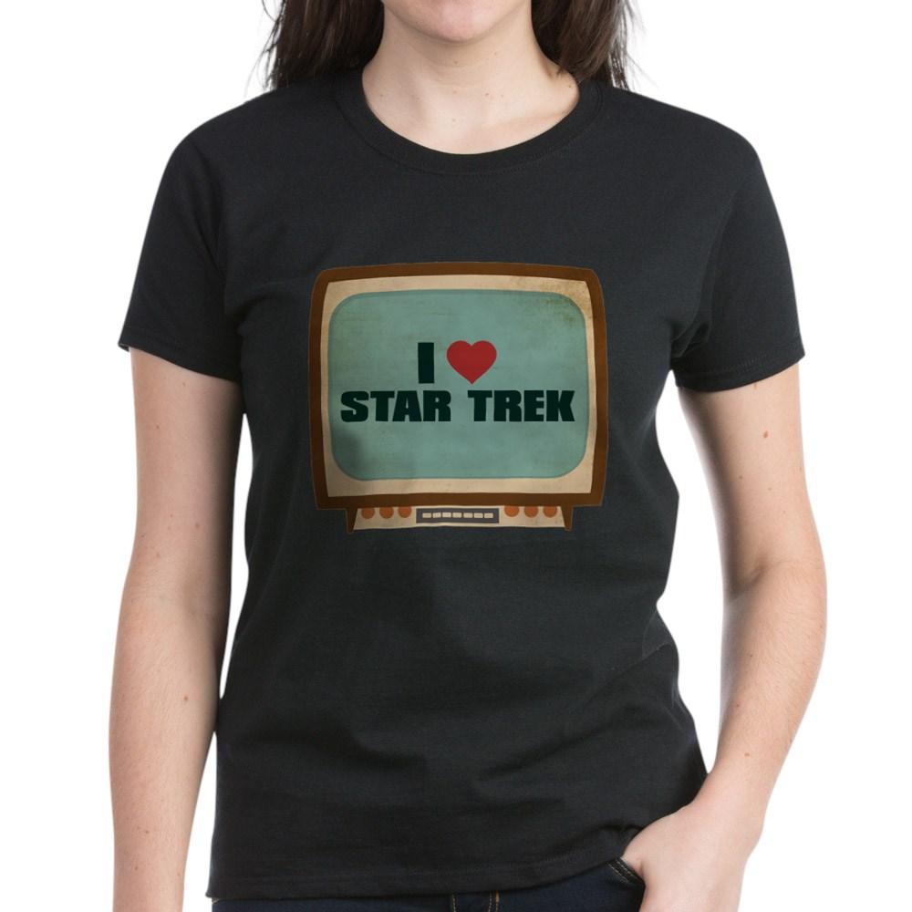 Retro I Heart Star Trek Women's Dark T-Shirt